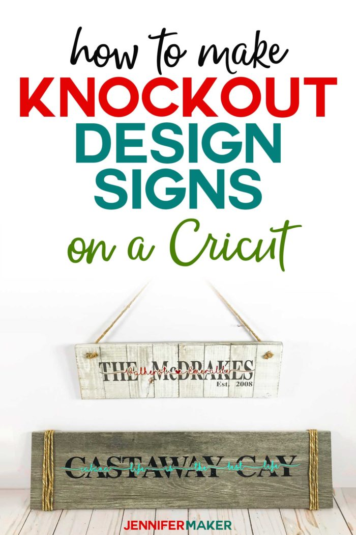 DIY Knockout Design Signs in Cricut Design Space - how to make name signs on ceramic tile #cricut #cricutmade #signs #cricutdesignspace