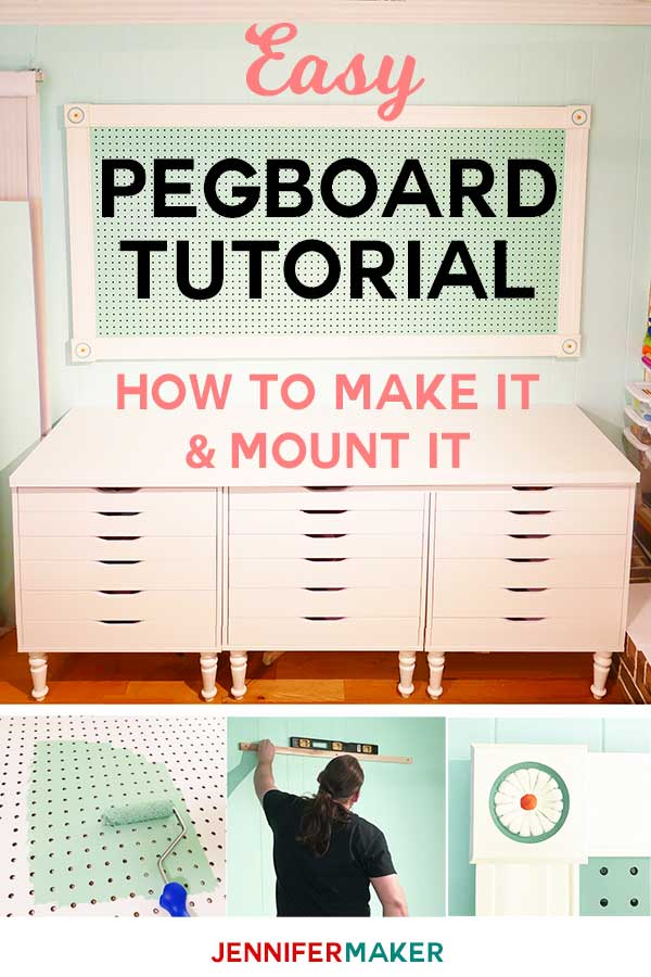 Large Framed Pegboard to Organize Your Craft Room - Jennifer Maker
