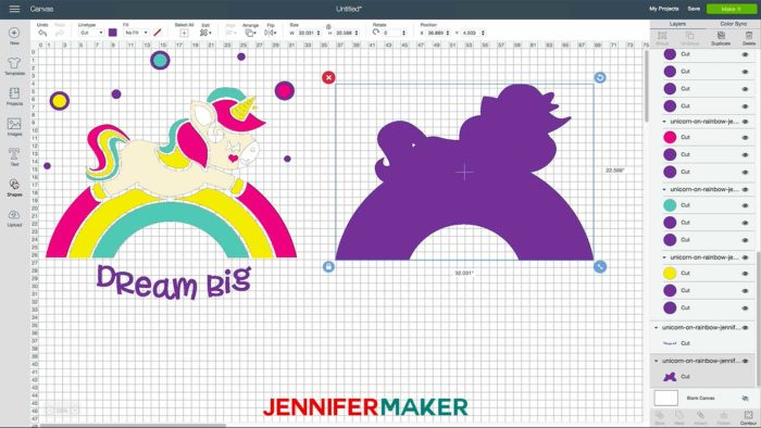 Creating a larger than mat project in Cricut Design Space for a large wall decal