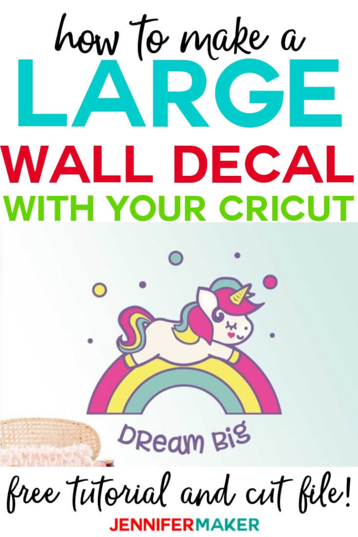 Learn how to cut larger than mat projects on your Cricut so you can make amazing and large wall decals from vinyl or even cardstock! #cricut #cricutmade #cricutmaker #cricutexplore #svg #svgfile