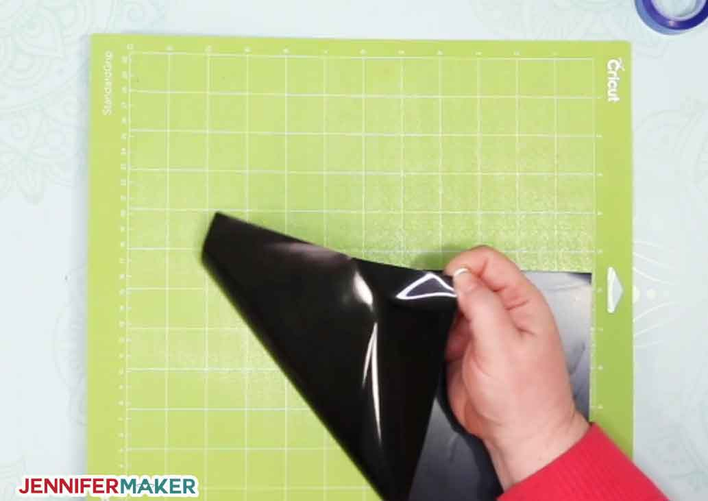 Put the shiny side down when you cut iron-on vinyl