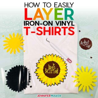 How to Layer Iron-On Vinyl Shirts the Easy Way - Full Tutorial with Beginner-Friendly Free Design | #cricut #shirt #vinyl