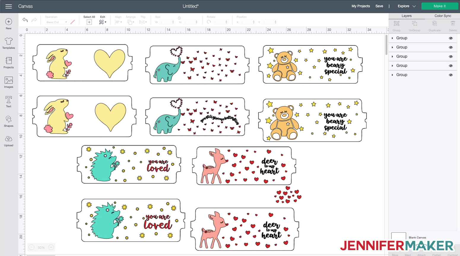Layered Infusible Ink Mug Designs with cute animals -- free SVG cut files