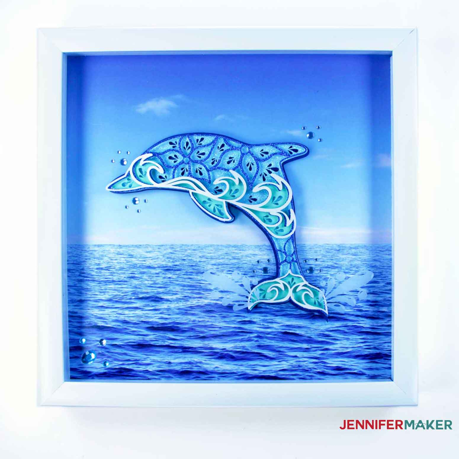 Final framed Dolphin of the Layered Sea Animals SVGs