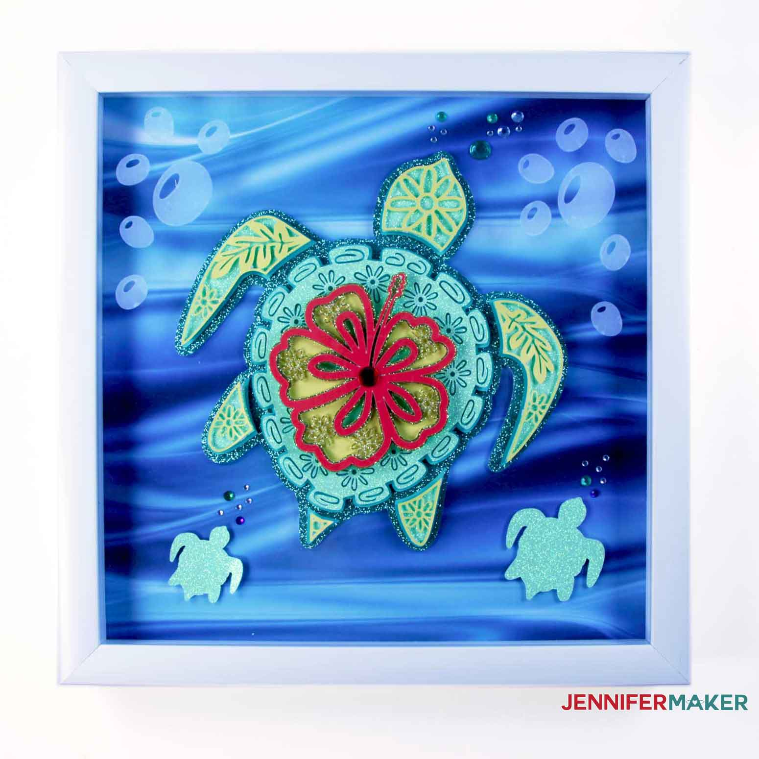 Final framed Turtle of the Layered Sea Animals SVGs