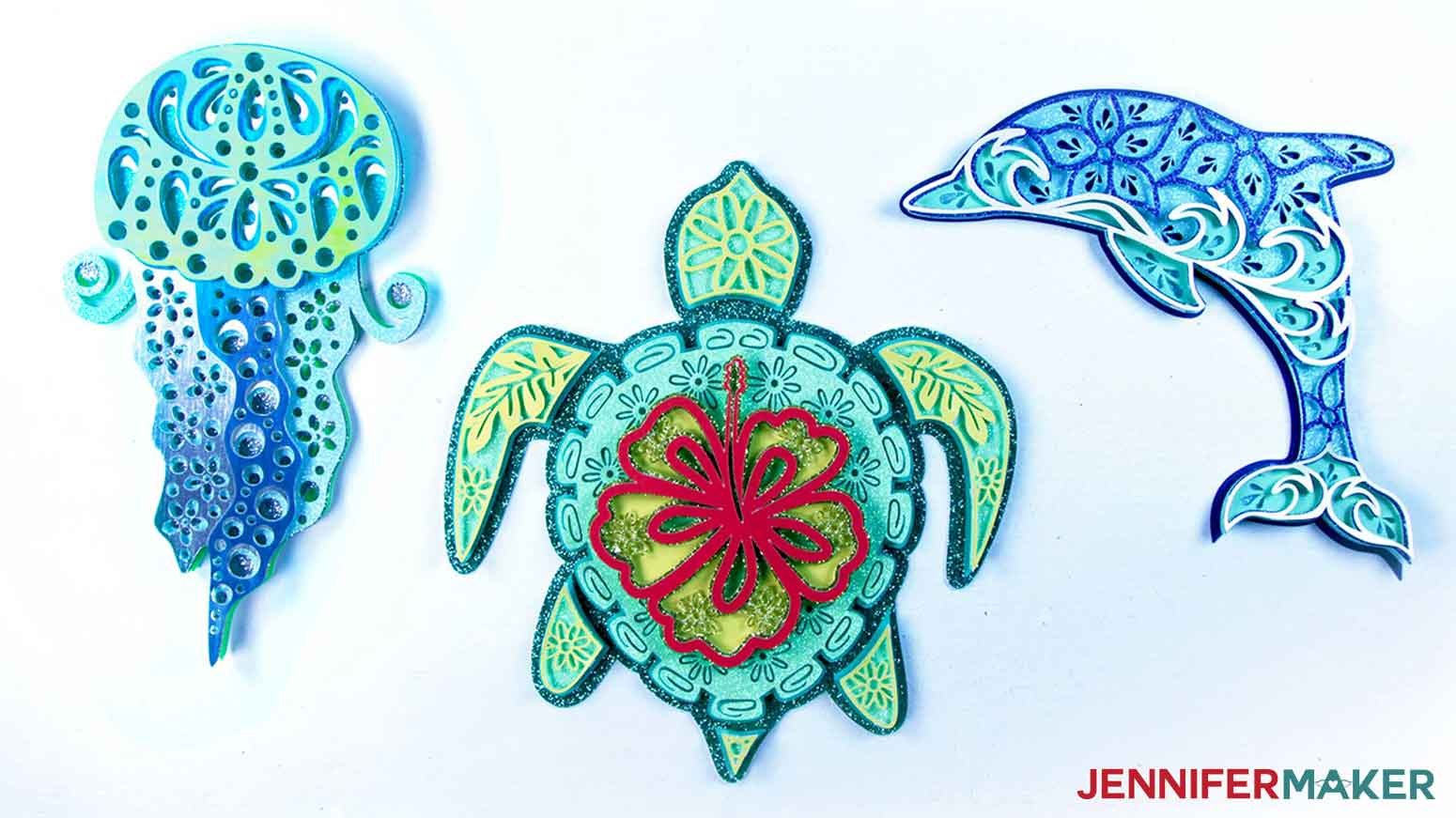 Assembled Layered Sea Animals SVGs