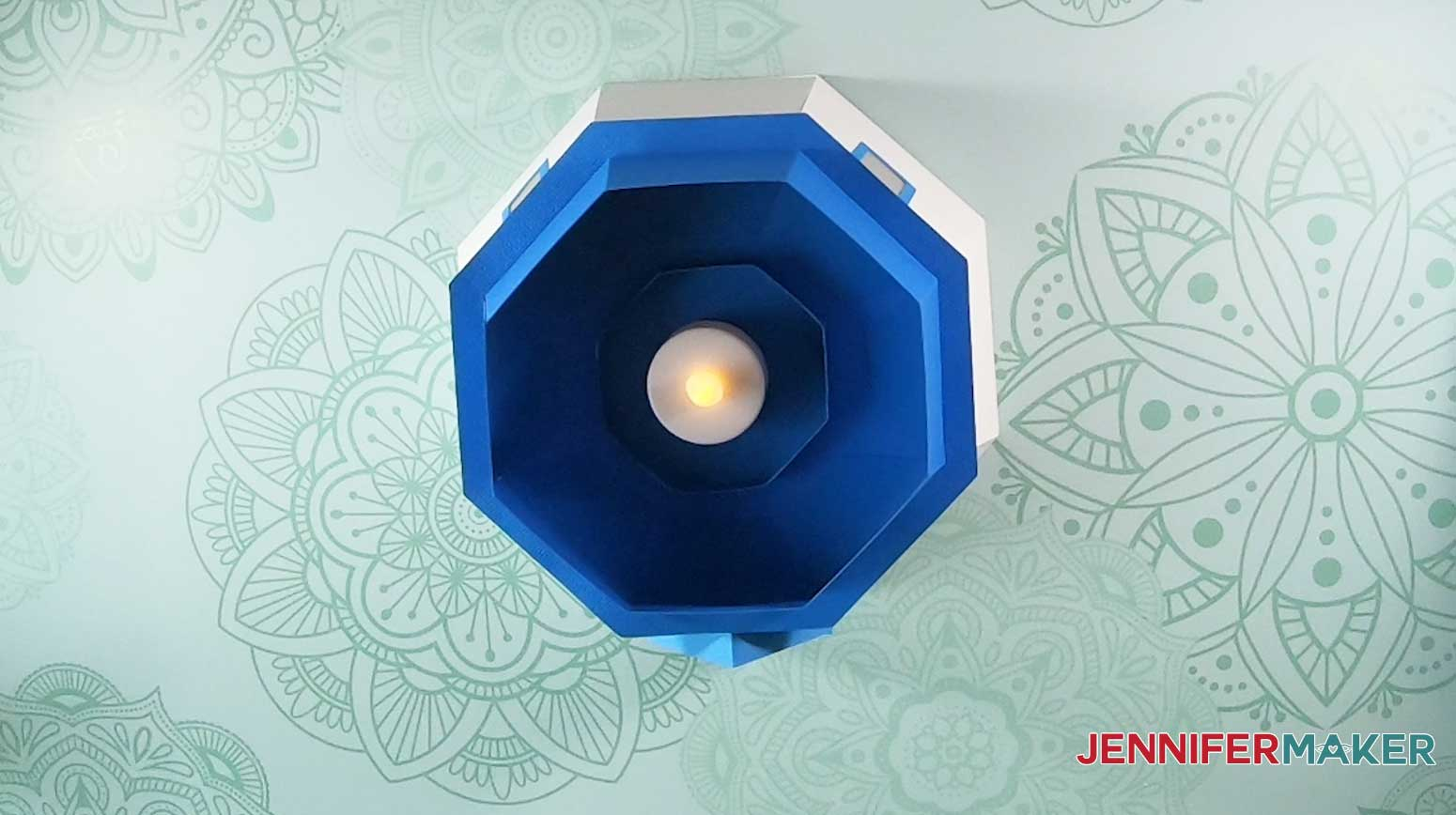 finished base of jennifermaker paper lighthouse luminary