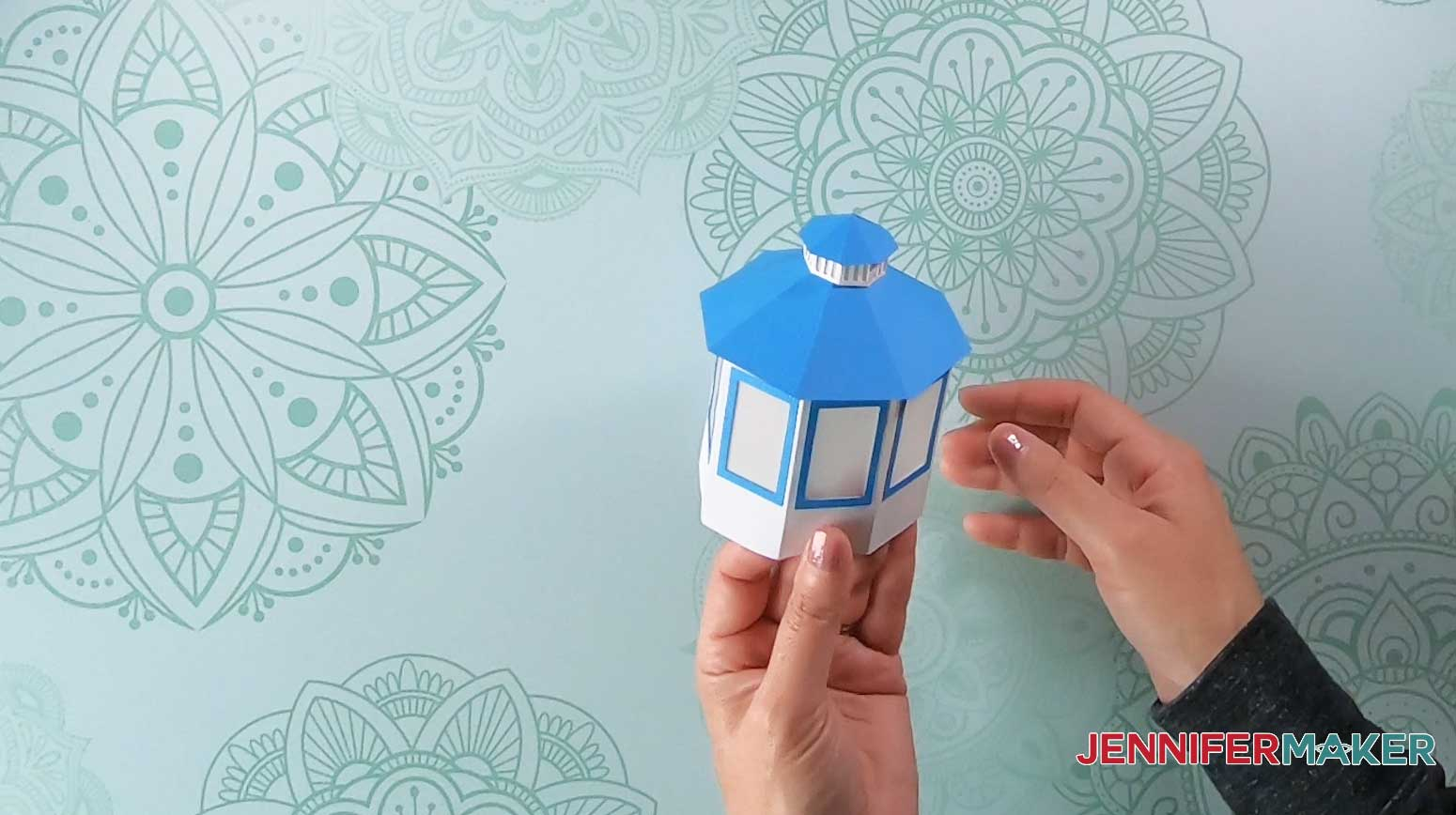 finished cupola of paper lighthouse luminary