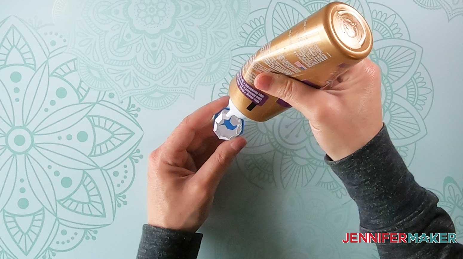apply glue to lighthouse luminary cap windows