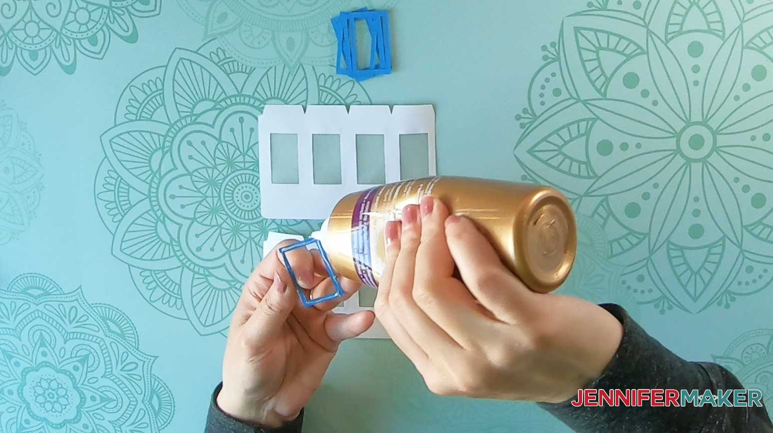 apply glue to lighthouse luminary window frames