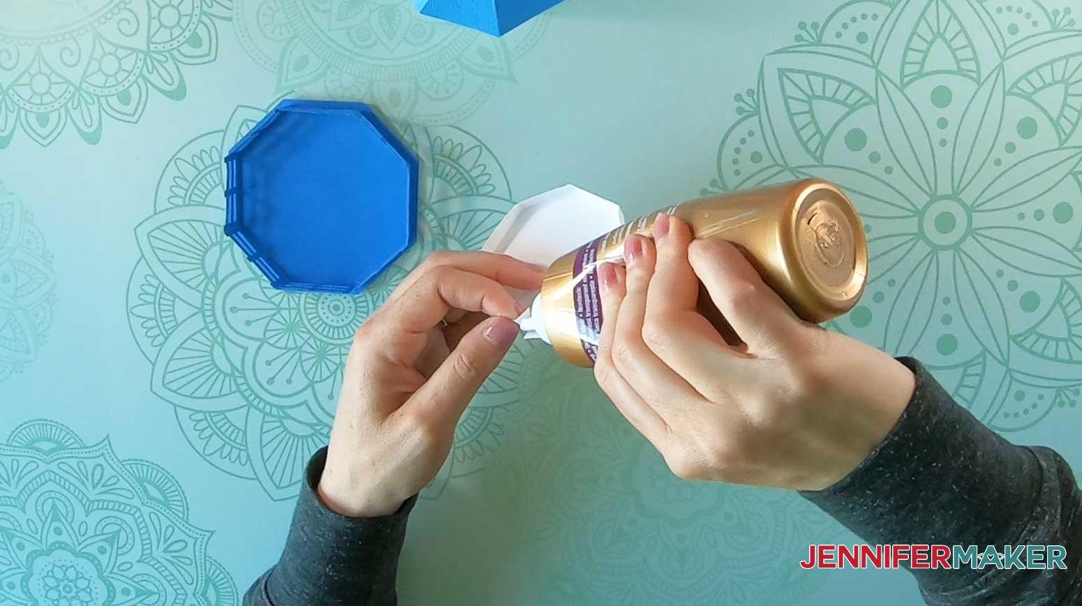 glue tealight holder tabs of lighthouse luminary