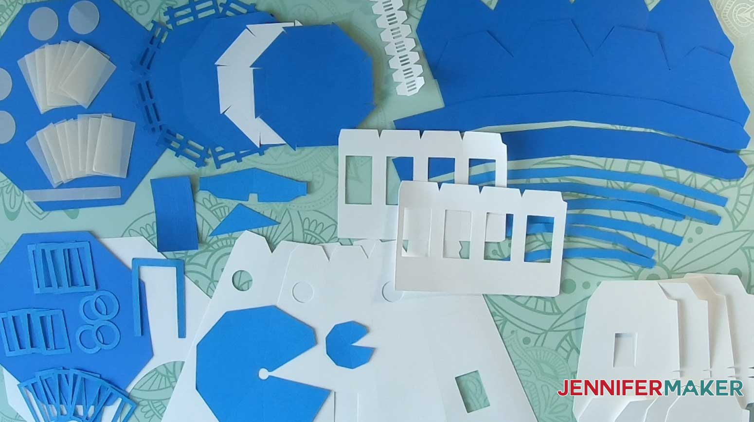 cut pieces for making lighthouse luminary