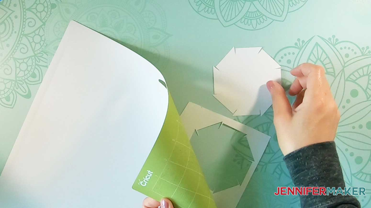 remove lighthouse luminary cut cardstock from mat