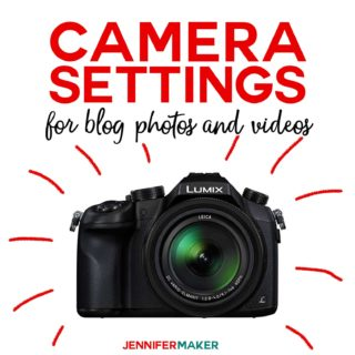 Camera Settings for Blog Photos and Videos