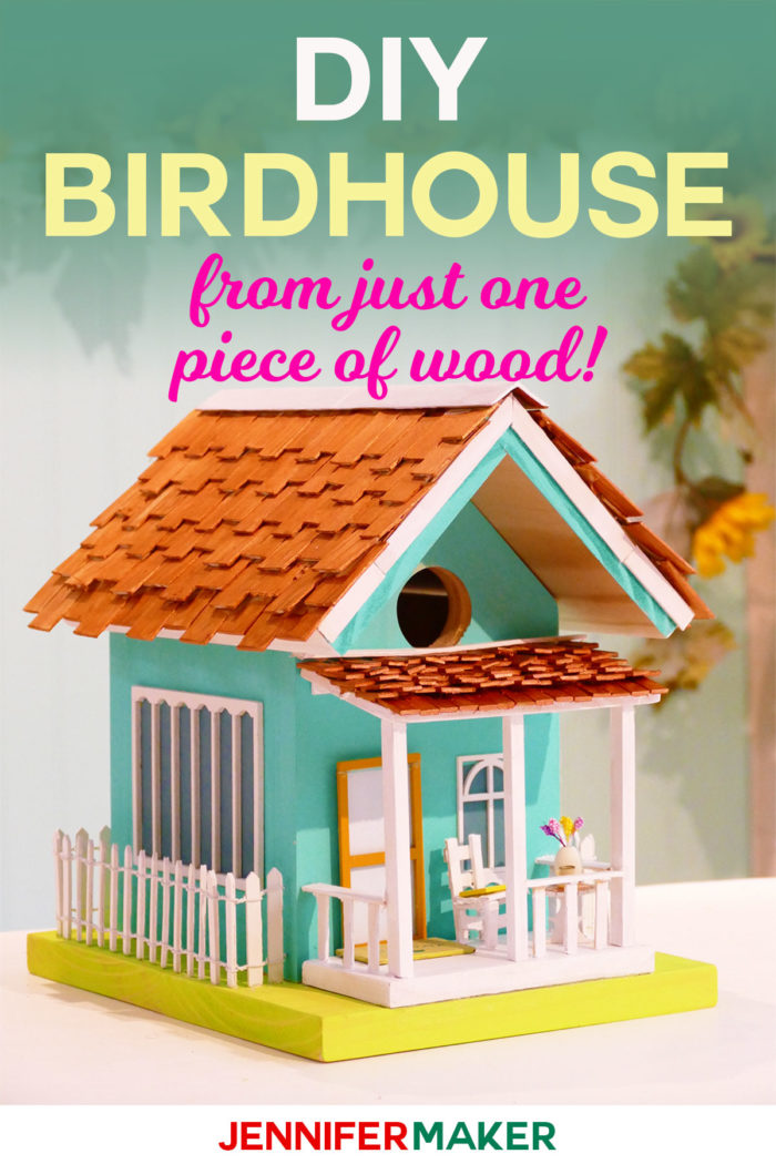 How to Make Birdhouses with Free Plans and Decoration Ideas | Painted #Birdhouse | DIY Birdhouse | Decorative & Whimsical | #gardenideas #diy