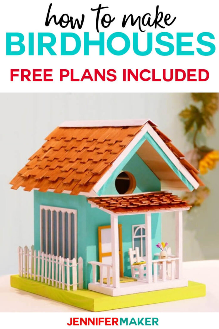 Learn how to make birdhouses for your garden with these free plans and decoration concepts. #diy #tutorial #craftprojects