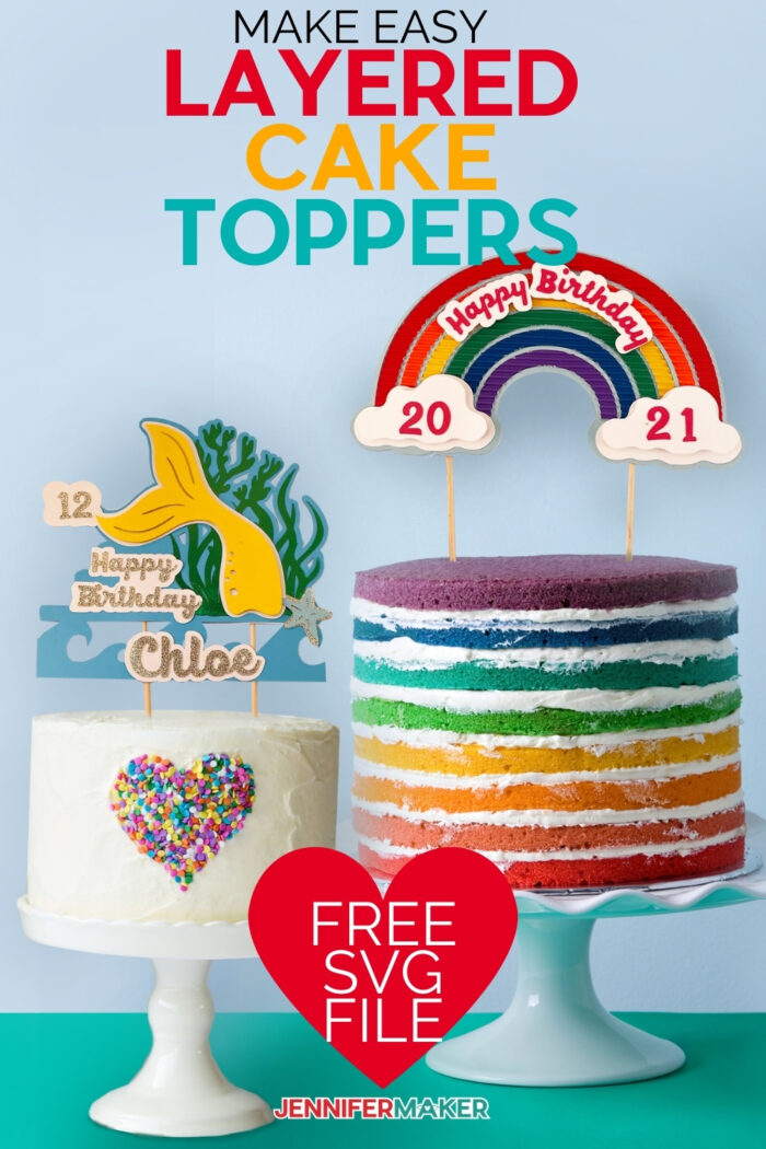 how to make cake toppers with layers!