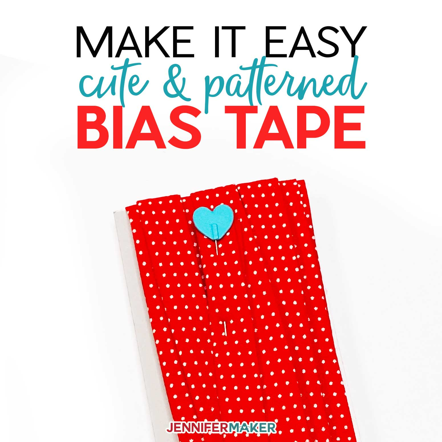 Make cute bias tape at home with any color or pattern the easy way!