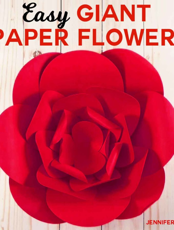 How to Make Giant Paper Flowers Fast and Easy | Free Pattern and SVG Cut File + Tutorail | #paperflowers #papercrafts #cricut #silhouette