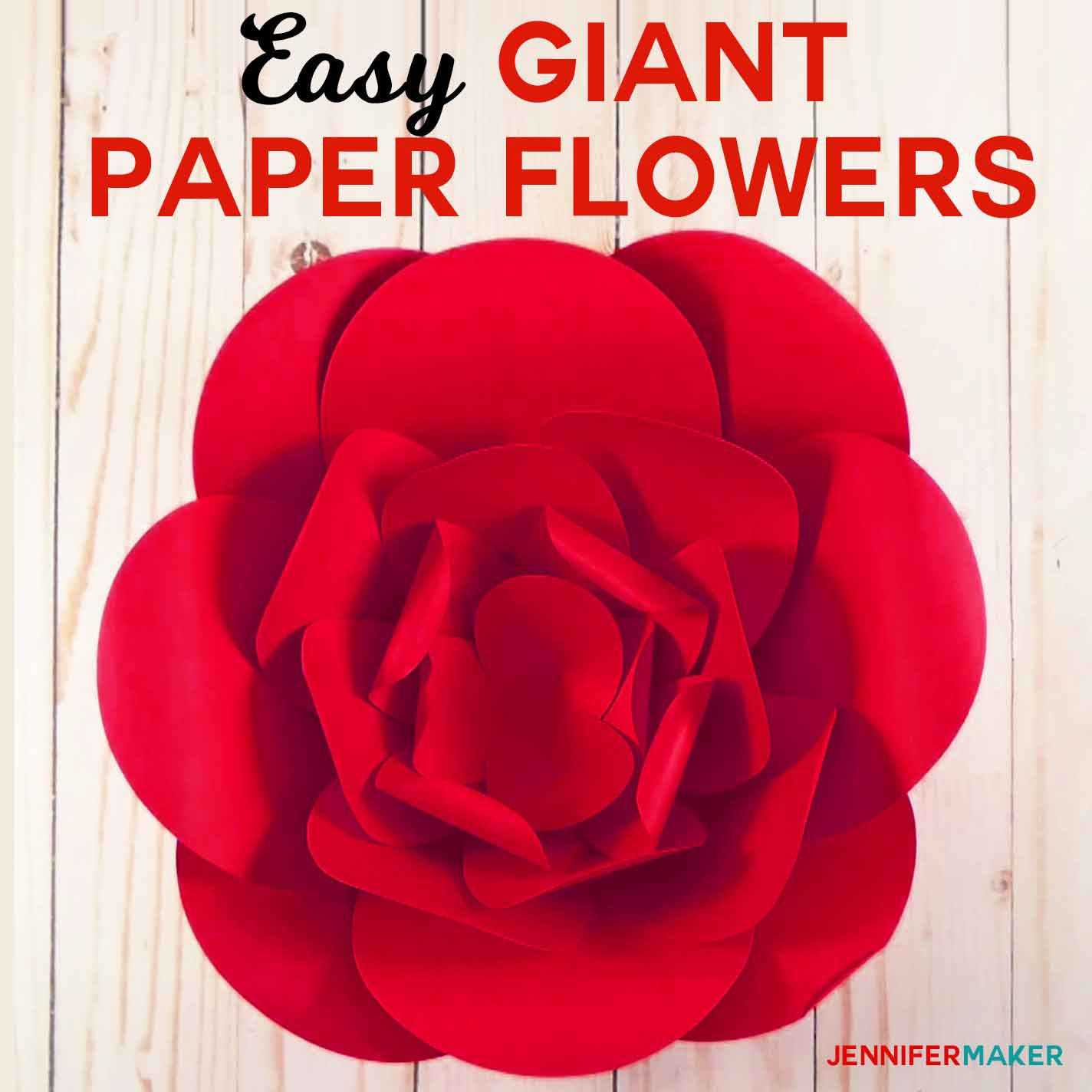How to make giant paper flowers easy and fast jennifer maker how to make giant paper flowers fast and easy free pattern and svg cut file mightylinksfo Images