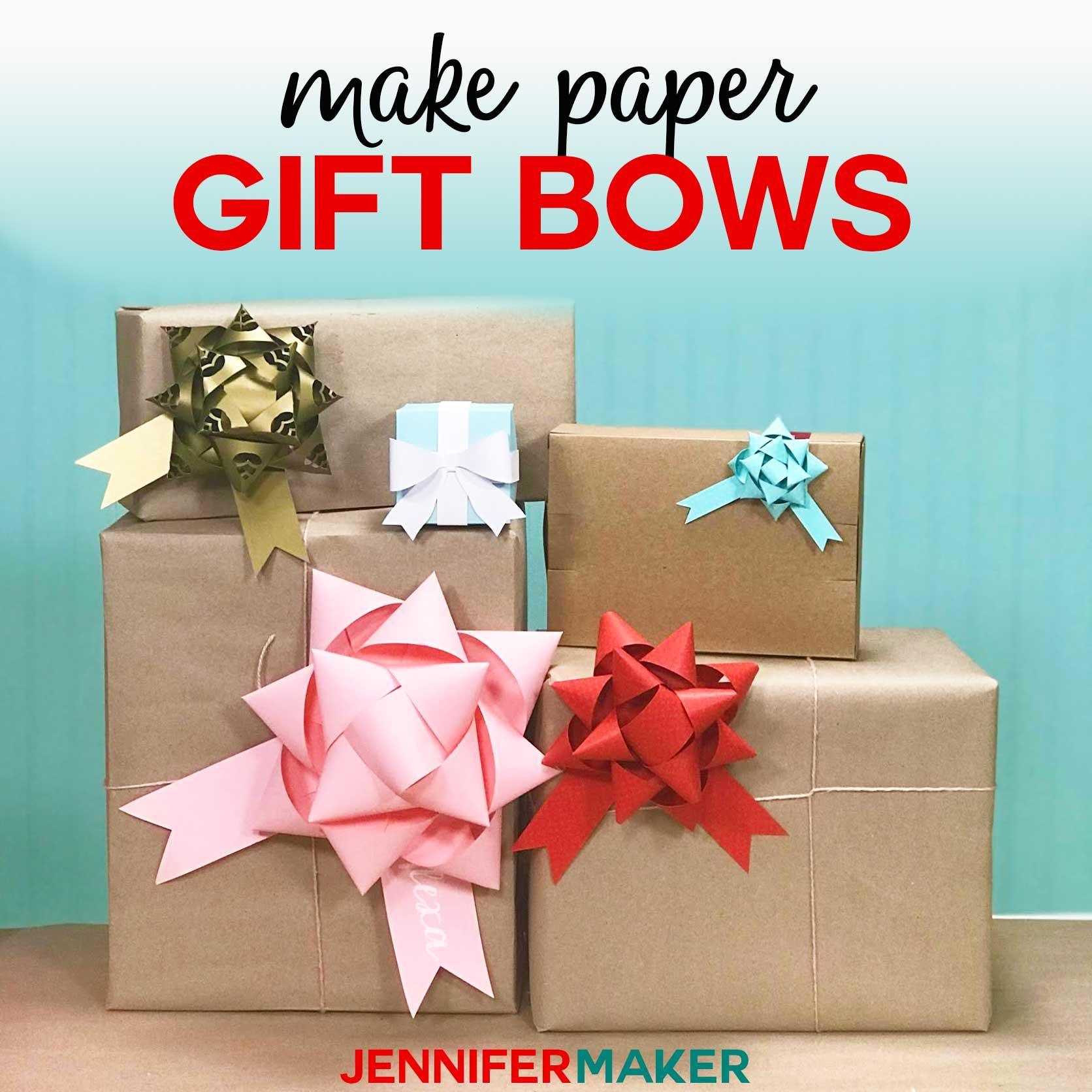 Make Gift Bows From Paper Free Template Amp Svg Cut File Jennifer Maker