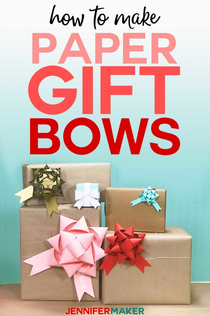 Make Gift Bows From Paper Free Template Svg Cut File