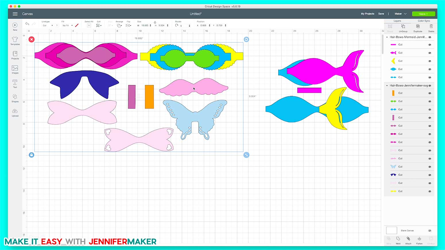 Make Hair Bows by uploading the free SVG cut file to Cricut Design Space