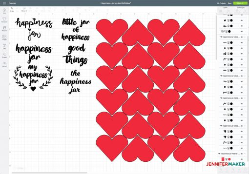 Uploading the Happiness Jar Decals to Cricut Design Space
