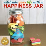Make a Happiness Jar with a free SVG cut file for Cricut and Silhouette, including heart-shaped paper