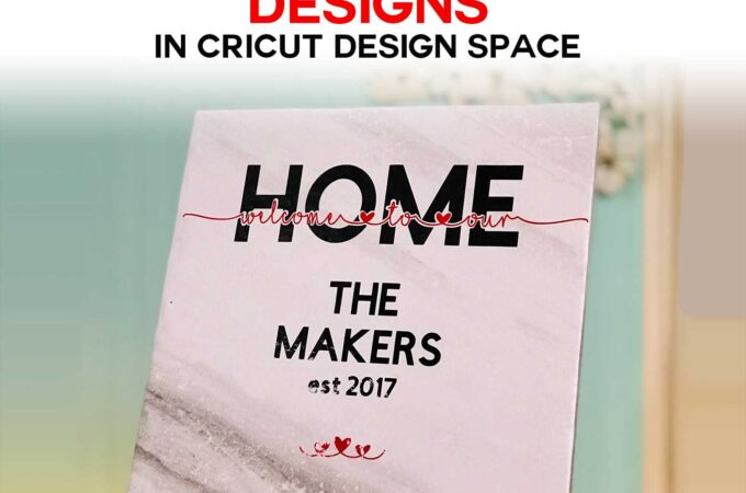 Make Knockout Designs in Cricut Design Space without special software | #cricut #sign #vinyl
