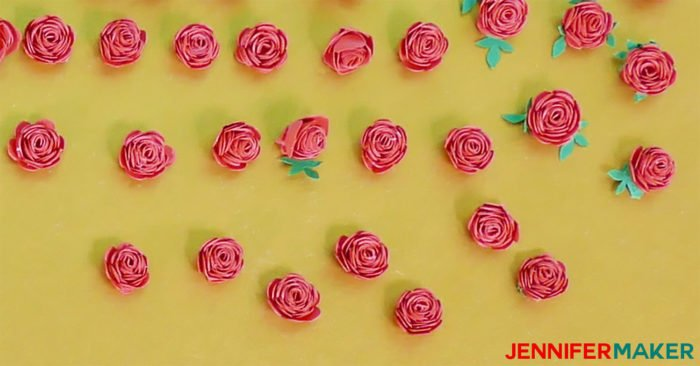 Miniature paper roses ready for crafts!