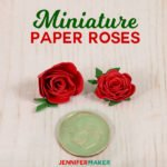 Make Miniature Paper Roses for Cute Crafts | quilled flowers | rolled paper rose #paperflowers #papercrafts