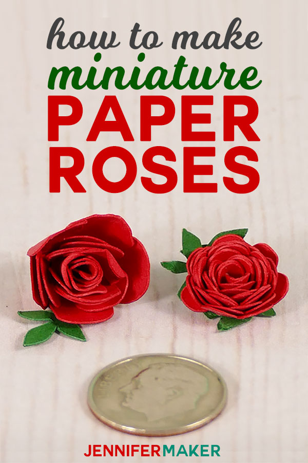Make Miniature Paper Roses for Cute Crafts | quilled flowers | rolled paper rose #paperflowers #papercrafts #crafts #miniatures