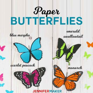 Make paper butterfly decorations that look REAL! #papercraft #butterflies #cricut