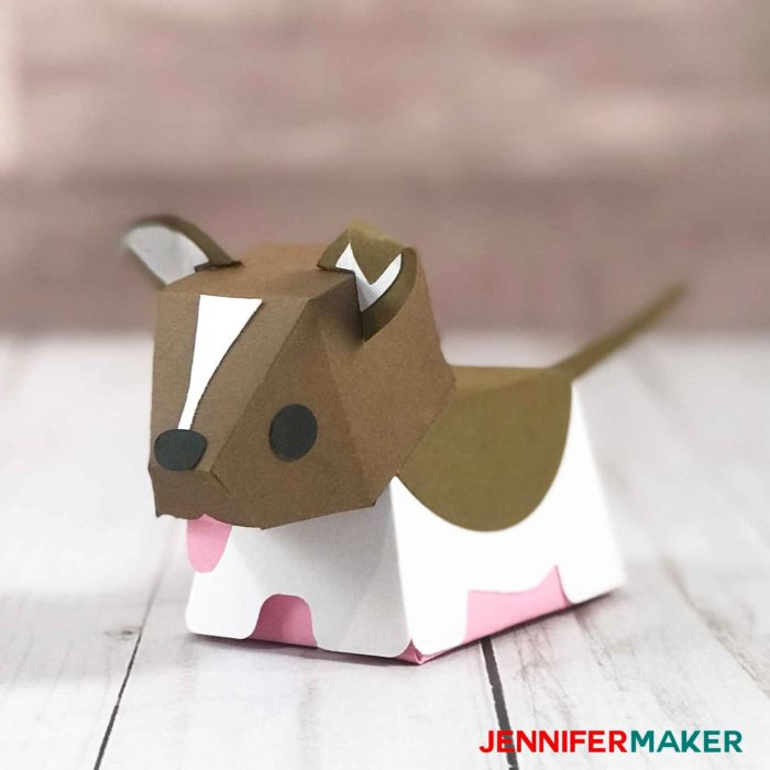 Make a paper dog that looks like a Border Collie!