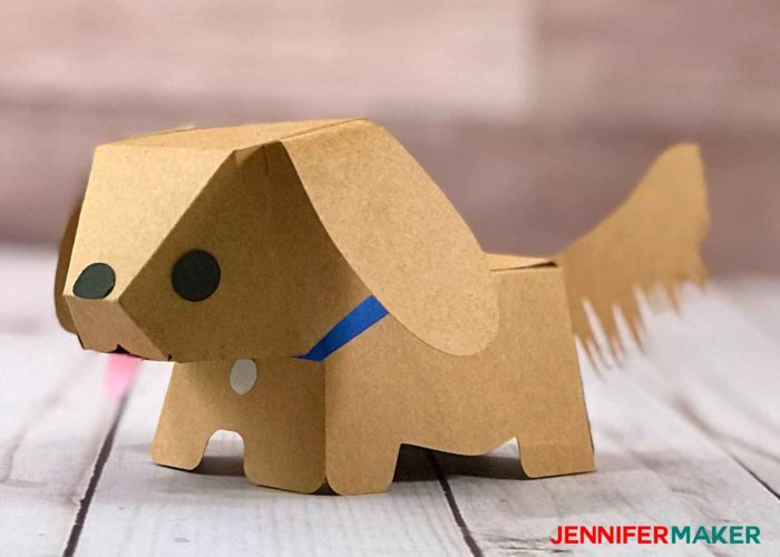 Make a paper dog that looks like a Golden Retriever