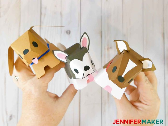 Cute paper dog boxes!