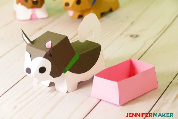 Make Paper Dog Boxes for gifts!