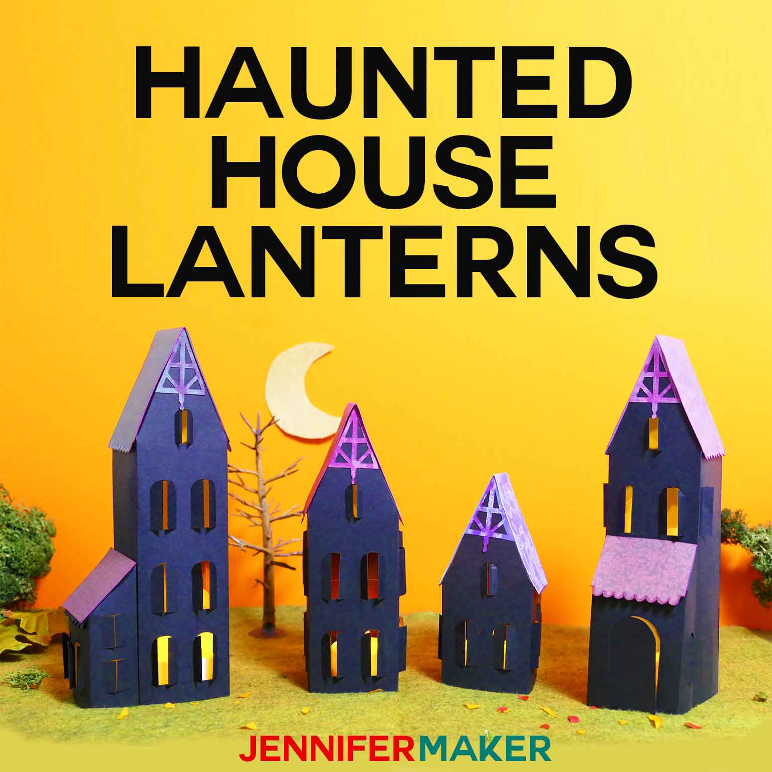 make paper haunted houses any way you want! - jennifer maker