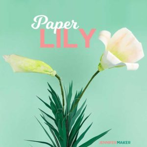 Make Paper Lily Flowers to Celebrate Easter with free SVG files and PDF patterns #cricut #paperflowers