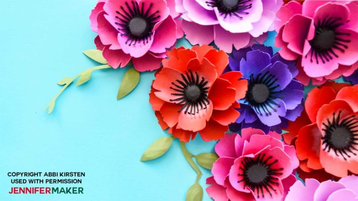 Make Paper Poppies With Free Templates Jennifer Maker