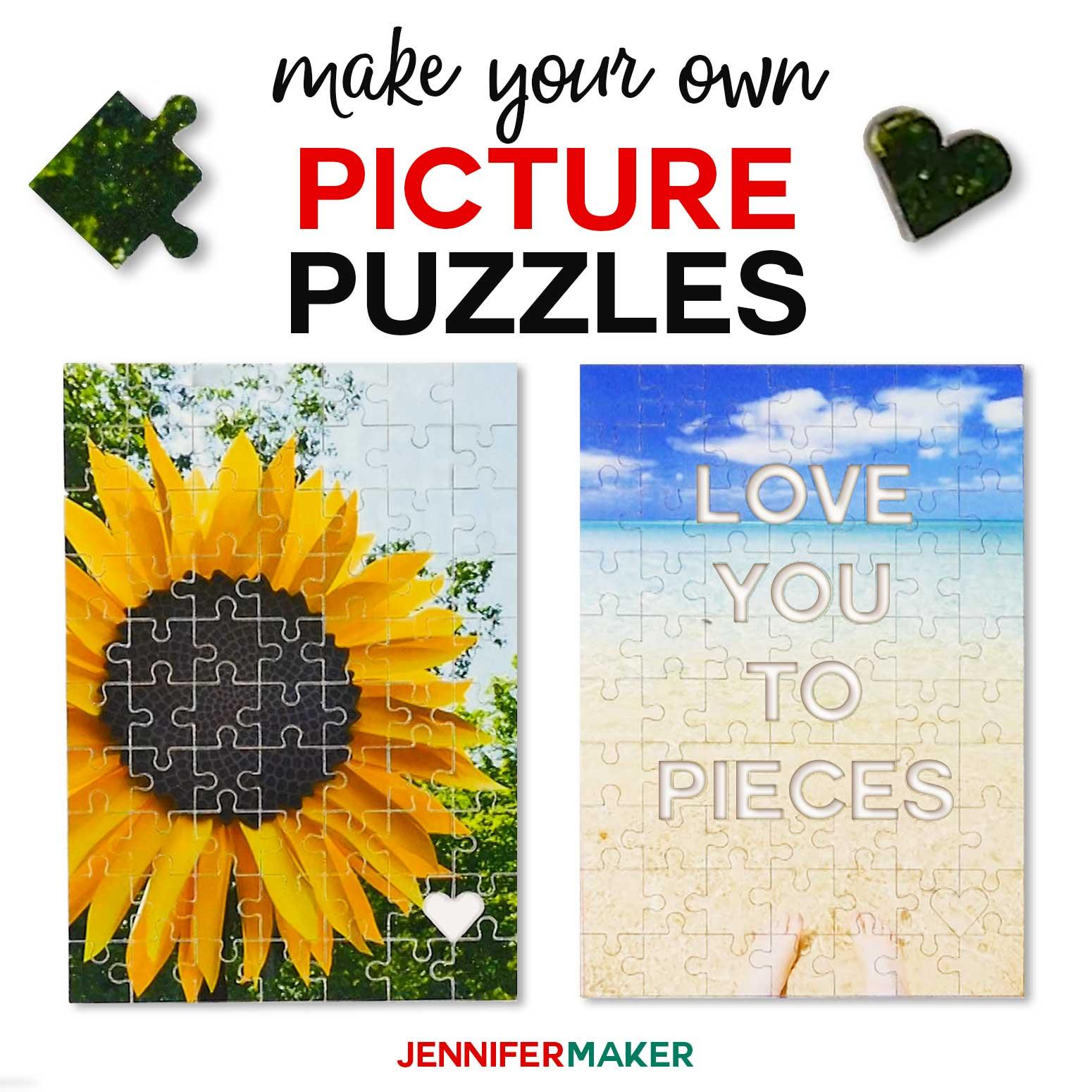 Make Picture Puzzles on Cricut (+ a Hidden Message Puzzle
