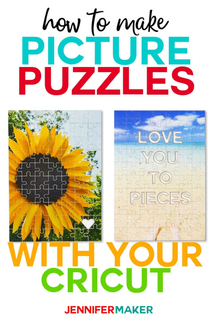 "Learn how you can make personalized picture puzzles with your Cricut! I have included six free puzzle templates, including a special ""hidden message"" puzzle!  #cricut #cricutmade #cricutmaker #cricutexplore #svg #svgfile"