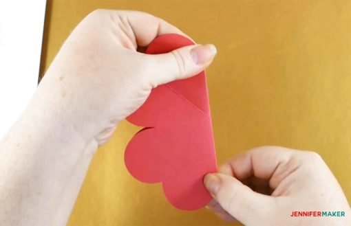 Fold your heart card in half again