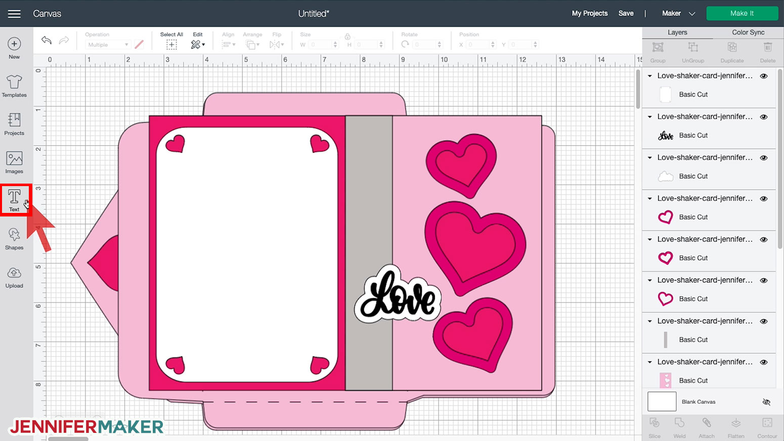 Ungrouping the SVG cut file uploaded to Cricut Design Space