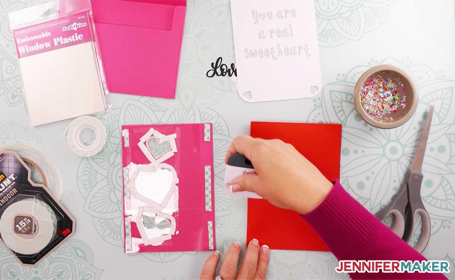 Folding the main shaker card