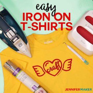Make T-Shirts with Cricut with Iron On Vinyl - Beginner Friendly Tutorial #cricut #cricutmade #heattransfer #easypress
