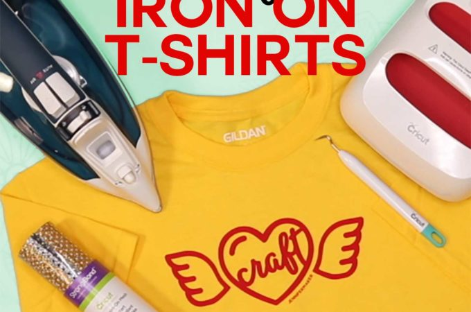 Make T-Shirts with Cricut with Iron On Vinyl - Beginner Friendly Tutorial #cricut #cricutmade #heattransfer #easypress