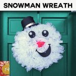 How to make a Mesh Snowman Wreath Tutorial | Curly Mesh Snowman | DIY Snowman Hat and Free SVG Cut Files and PDF Pattern