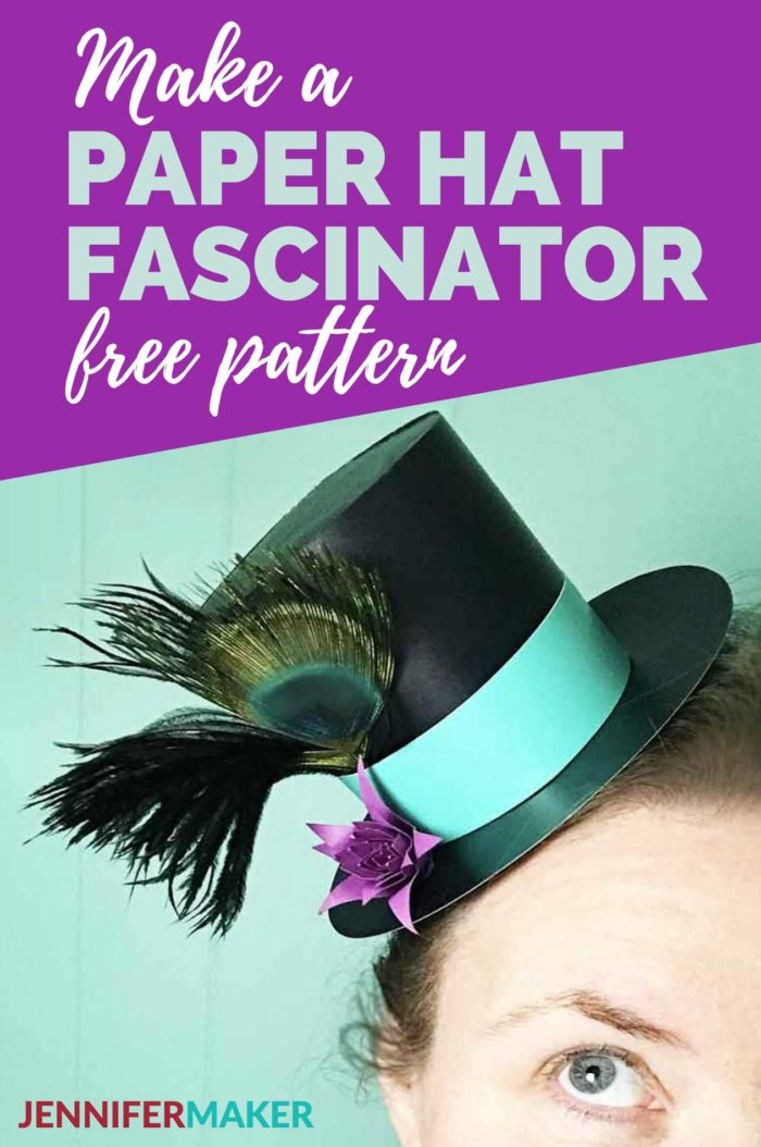 Make a Mini Top Paper Hat Fascinator for Parties! #cricut #papercrafts #fascinator #partyhats